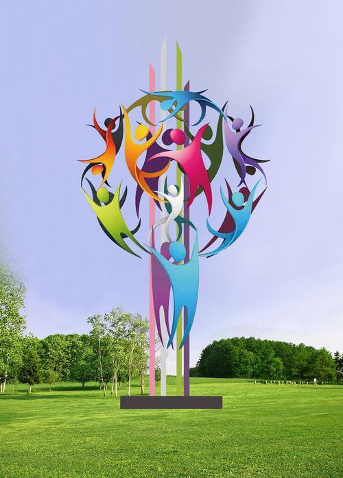 公园不锈钢雕塑设计图
